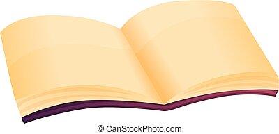 rejtély, mód, könyv, ikon, nyílik, karikatúra