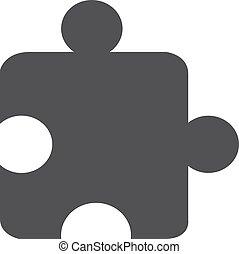 rejtvény, ábra, háttér., vektor, fekete, fehér, ikon