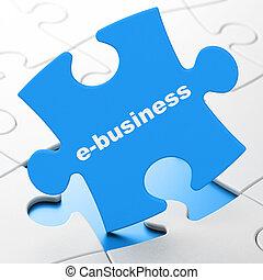 rejtvény, concept:, háttér, e-business, ügy