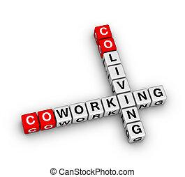 rejtvény, keresztrejtvény, co-living, co-working