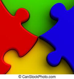 rejtvény, színes