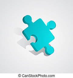 rejtvény, vektor, 3, darab