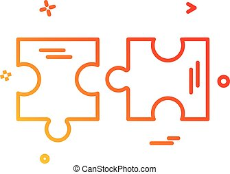 rejtvény, vektor, tervezés, ikon