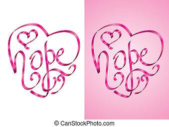 remény, -, tudatosság, rák, mell