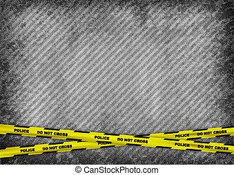 rendőrség mérőszalag