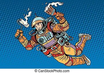 rendbehozás, űrhajós, készítmény, festék