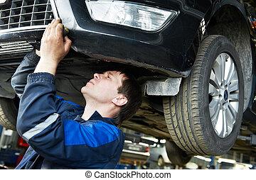 rendbehozás, autó, munka, szerelő, autó