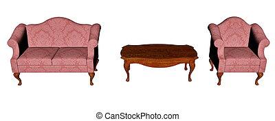 render, szüret, -, otthon, furnitures, 3
