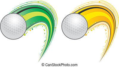 repülés, golf labda