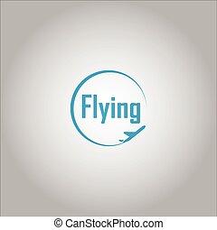 repülés, jel, tervezés, sablon, ihlet