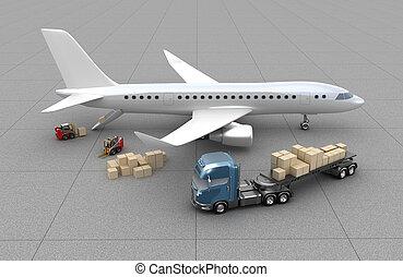 repülőgép, berakodás