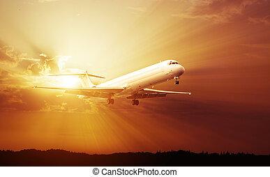 repülőgép kereskedelmi, sugárhajtású repülőgép