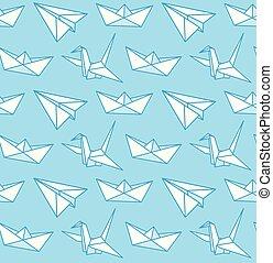 repülőgép, origami., crane., csónakázik, dolgozat