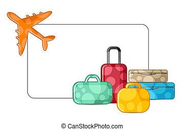 repülőgép, poggyász