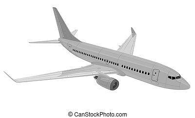 repülőgép., vektor, illustration.
