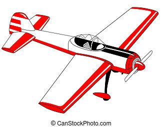 repülőgép, white háttér, rajz