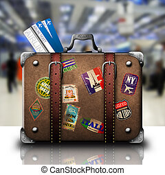 repülőtér, bőrönd