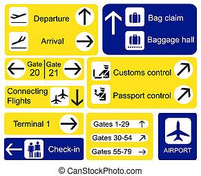 repülőtér, cégtábla