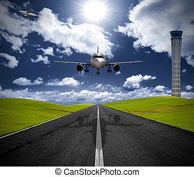 repülőtér, repülőgép