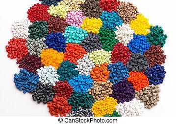 resins, festett, granulate, műanyag