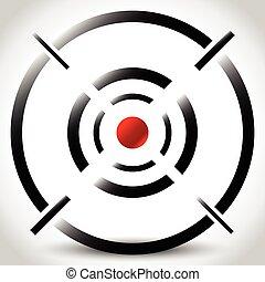 reticle, céltábla, editable, kereszt, megjelöl, haj, vector.