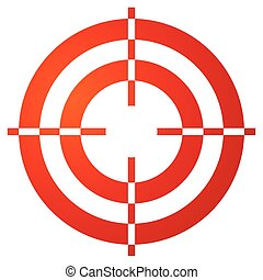 reticle, színezett, crosshair, megjelöl, alakít, fehér, céltábla