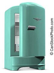 retro, hűtőgép