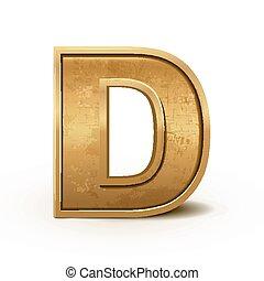 retro, levél, arany-, átmérő, 3