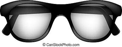 retro, szemüveg
