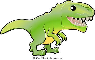 rex, ábra, dinoszaurusz, csinos, tyrannosaurus
