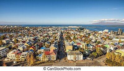 reykjavik, felül, megnézett, izland