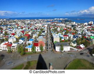 reykjavik, tiltshift