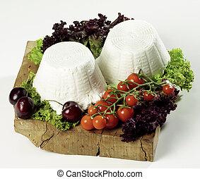ricotta, két, sajtok