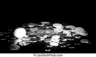 rmb, érme, csoport, bukás, pénzdarab.