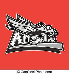 road., vezetés, klub, ábra, bringás, vektor, motorkerékpár, angyalok, kasfogó, ember