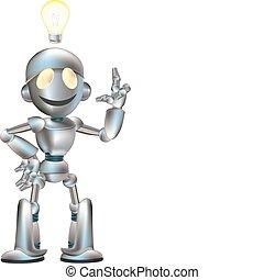 robot, ábra, csinos