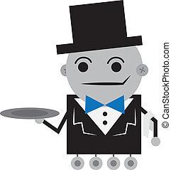 robot, komornyik