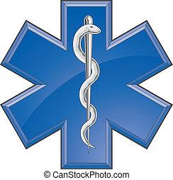 rohammentős, orvosi, kiszabadítás, jel