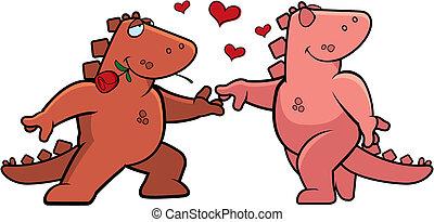 románc, dinoszaurusz
