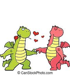 románc, sárkány