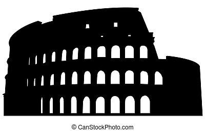roman coliseum, árnykép