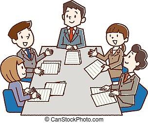 room., gyűlés, kereskedelmi ügynökség