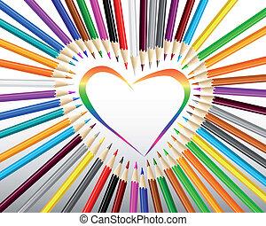 rudacska, szív, színezett