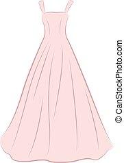 ruha, illustration., esküvő
