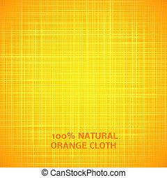 ruhaanyag, struktúra, háttér., vektor, ábra, narancs