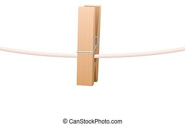 ruhaszárító kötél, ruhacsipesz