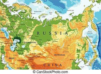 russia térkép, megkönnyebbülés
