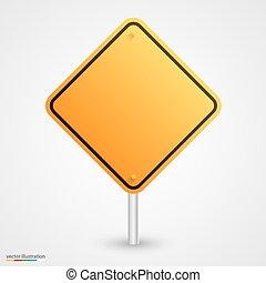 sárga, üres, út cégtábla
