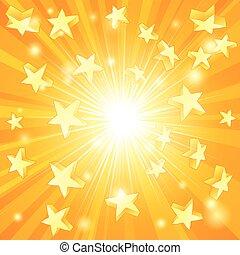 sárga, csillaggal díszít, háttér
