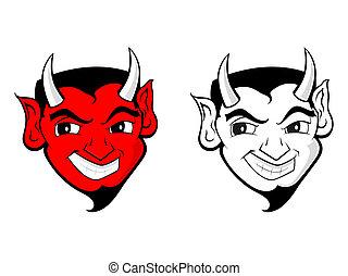 sátán, ördög, művészet, /, csíptet